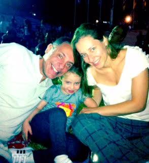 Rudi e Cláudia com a filha Anna (Foto: arquivo pessoal)