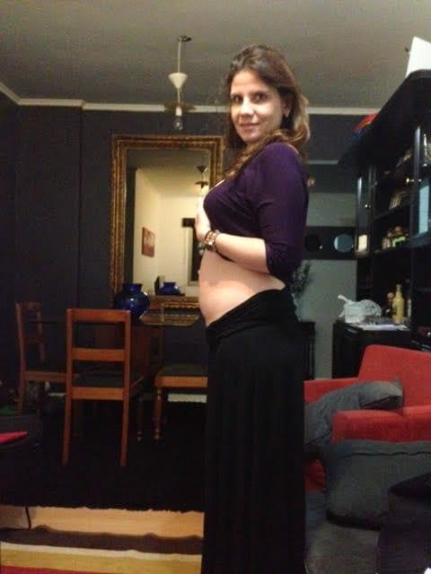 Gabriela logo no início da gestação (Foto: Arquivo pessoal)