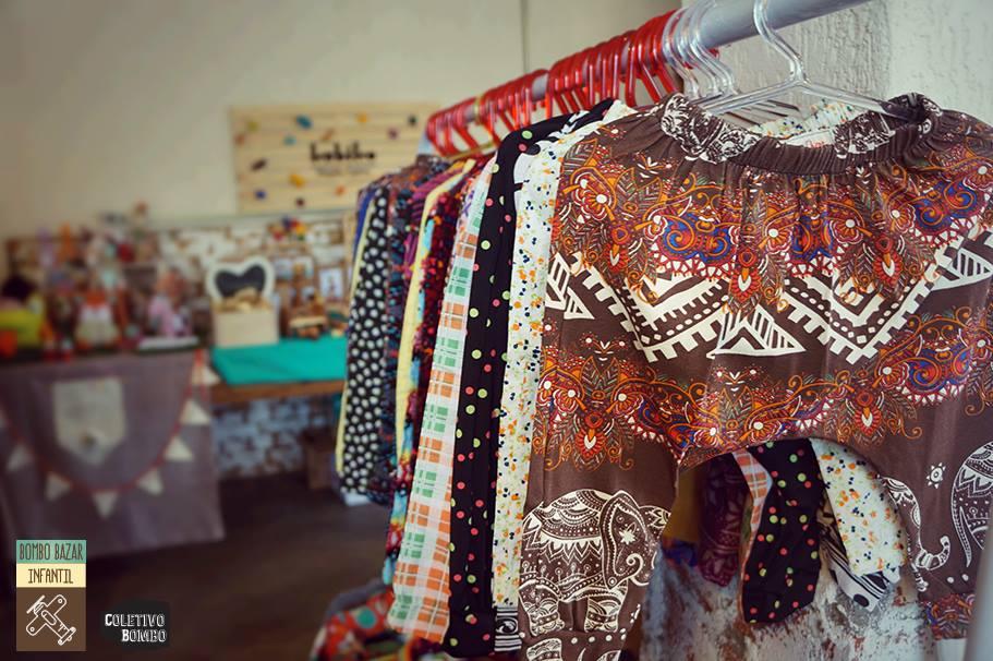 Bazar com produtos infantis (Foto: Coletivo Bombo)