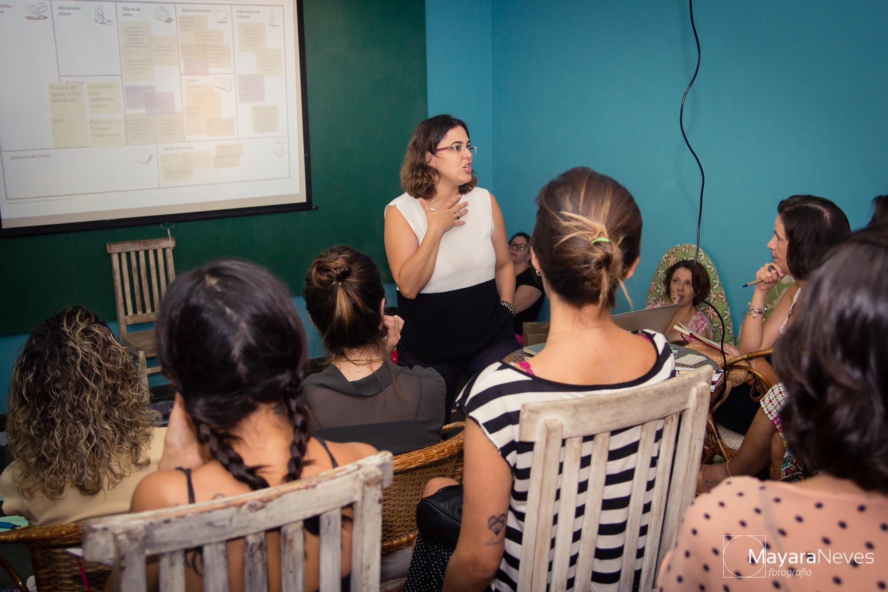 Palestras ajudam mães a empreender (Foto: Mayara Neves)