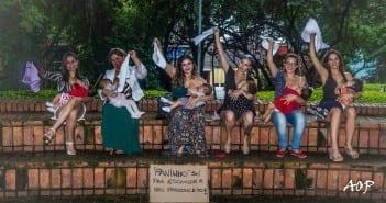 Mães durante ensaio fotográfico em Minas Gerais (Foto: Alexandre Périgo)