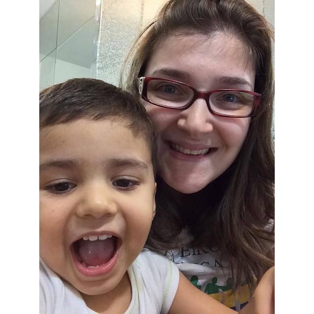Gabriel com a mãe Ana (Foto: arquivo pessoal)