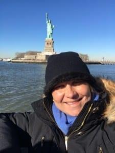 Astrid durante a sua viagem para os EUA (Foto: arquivo pessoal)