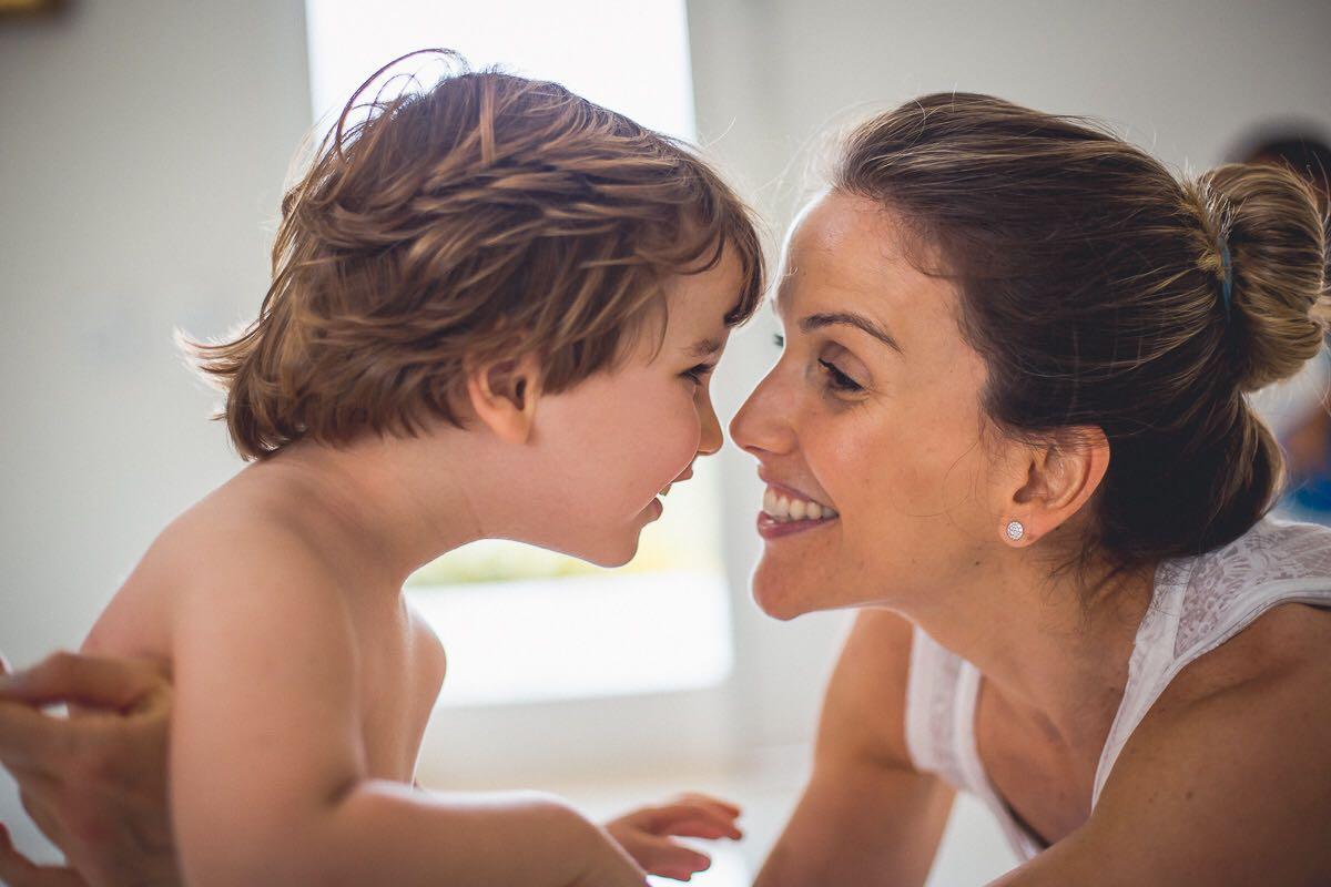 Mariana com o filho Miguel